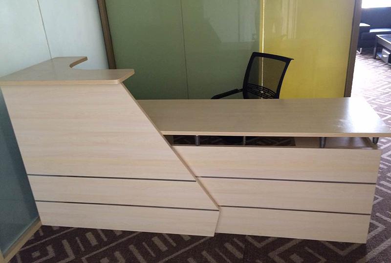 简约风办公前台桌