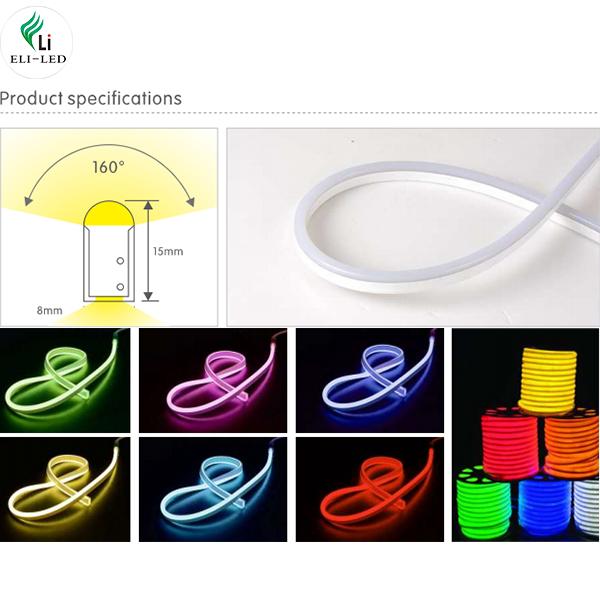 ultra thin led neon flex light 8X16mm