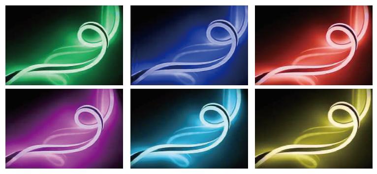 ultra thin led neon flex light 9X18mm