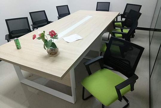 木纹色板面加厚办公会议桌
