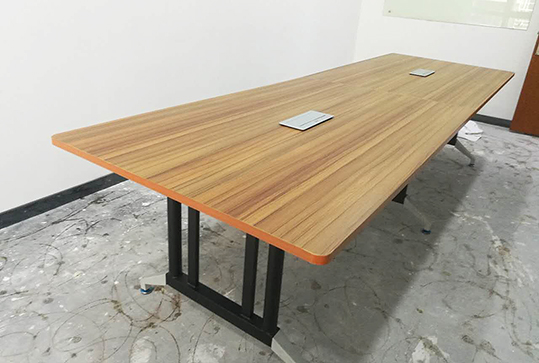 简约现代办公桌长方形板式会议室