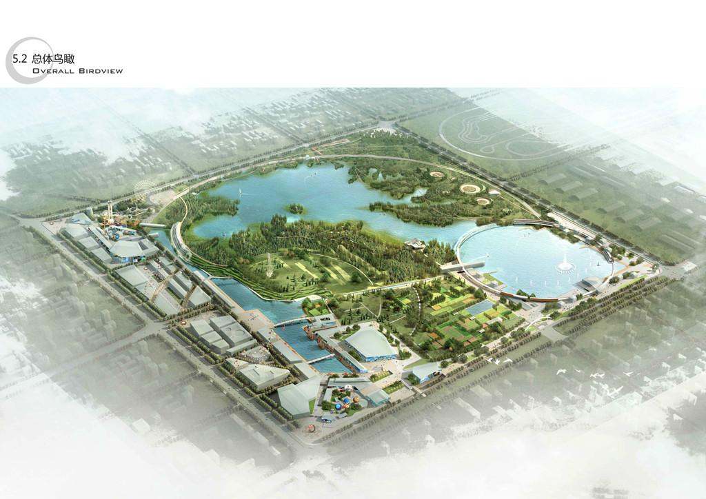 襄阳高新区连山湖公园景观设计 lianshan lake park competition