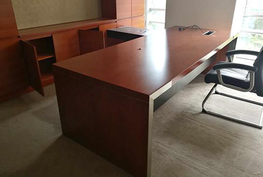 红棕色办公家具大班台老板桌总裁桌