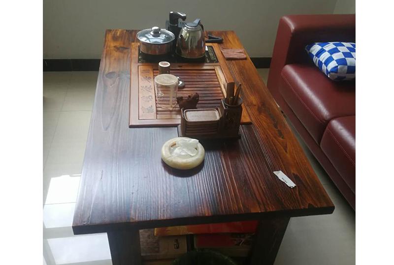 原木色传统办公茶几