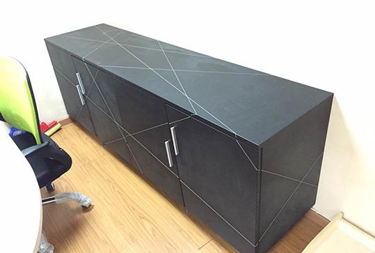 黑色几何分割线办公地柜