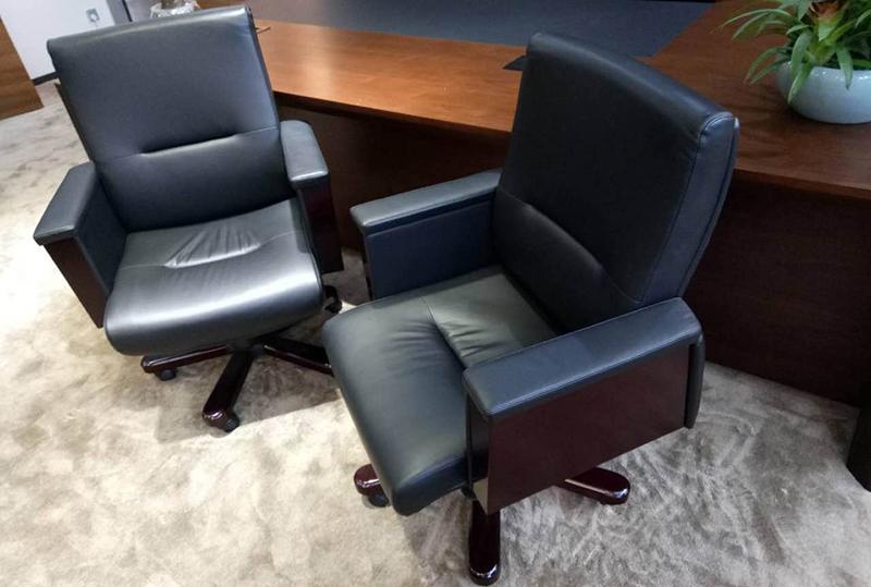 黑色小型大班椅、办公转椅