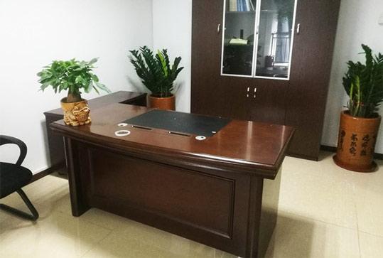 红棕色现代简约经理桌、老板桌