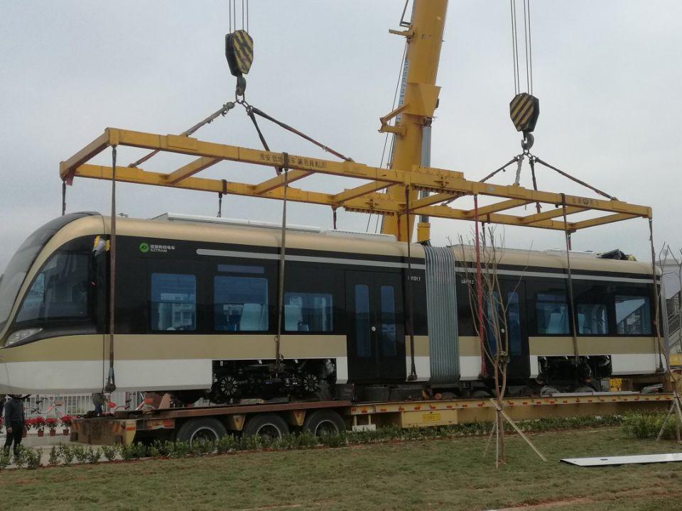 有轨电车吊卸
