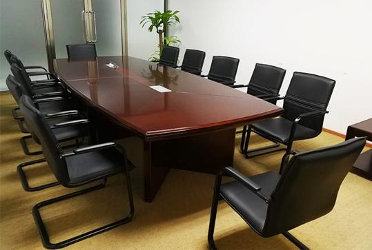 简约现代实木办公会议桌