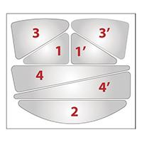 代尔塔 102032 安全帽荧光贴纸 HESTICKER