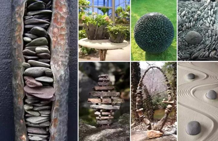 自然的石头在景观设计中的玩法