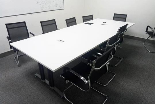 白色简约方形会议桌长桌