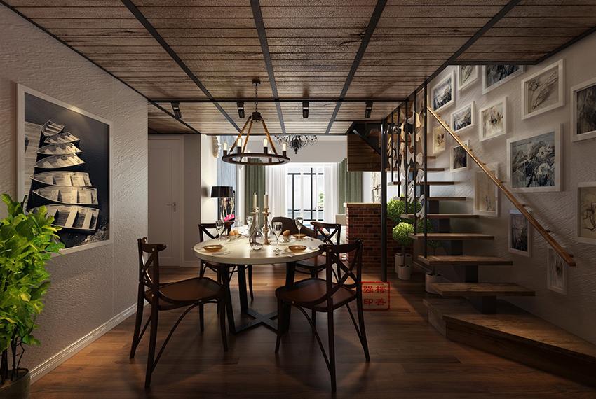 美式loft(混搭风)所在城市:海南岛案例造价:27万设计师:梅善强