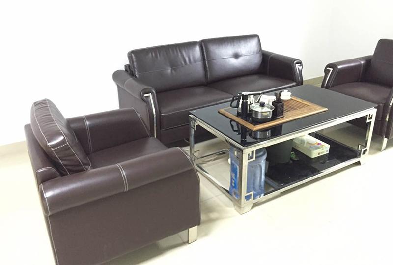 棕色皮质沙发、办公沙发、休闲沙发