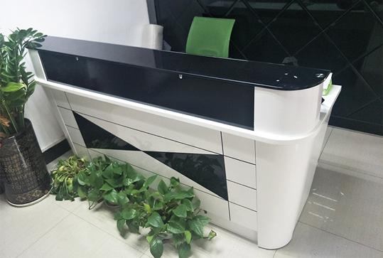 黑白色现代简约设计前台桌
