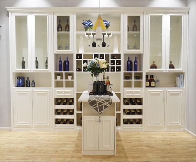 水晶白简欧酒柜
