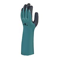 代尔塔 201835 双层加掌面发泡丁腈超厚防化手套 VV835