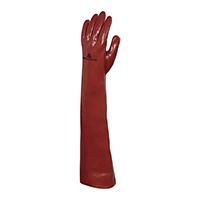 代尔塔 201601 加长版60厘米PVC防化手套 PVCC600