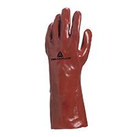代尔塔 201735 加强硫化防微生物35厘米PVC手套 PVC7335