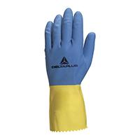 代尔塔 201330 抑菌型天然乳胶防化手套 VE330