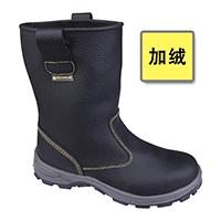 代尔塔 301405 黄色线加绒款高帮安全鞋 LOFOTEN S1P