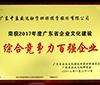 """中盈盛達榮獲""""2017年度廣東省企業文化建設綜合競爭力百強企業"""""""