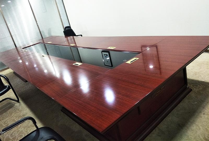 红棕色办公家具办公桌会议桌