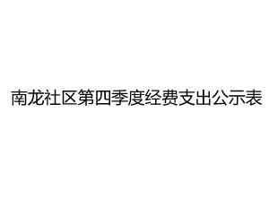 南龙社区第四季度经费支出公示表