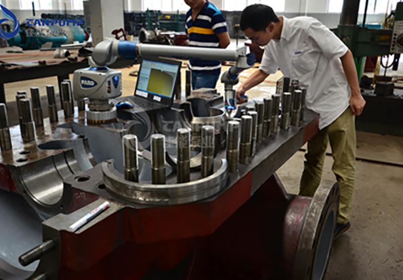 中开多级泵三坐标检测