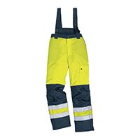 代尔塔 404014 PU涂层涤纶荧光防寒裤 FARGO HV