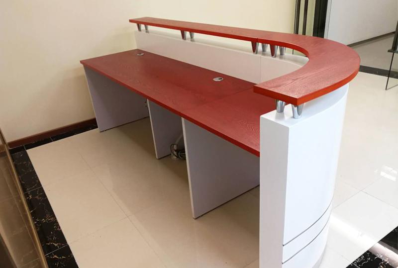 简约现代前台接待台公司迎宾台办公桌