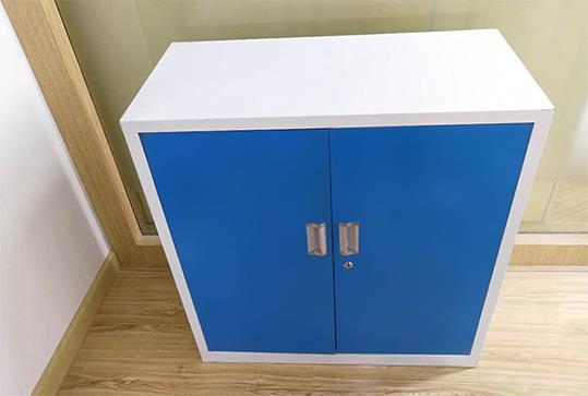蓝色双门办公文件柜