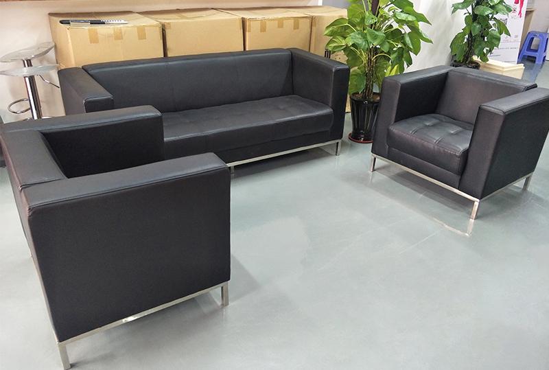 3+2黑色舒适办公沙发