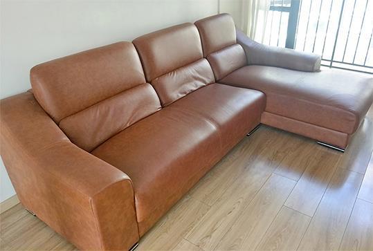 棕色皮革时尚大气办公沙发、休闲沙发