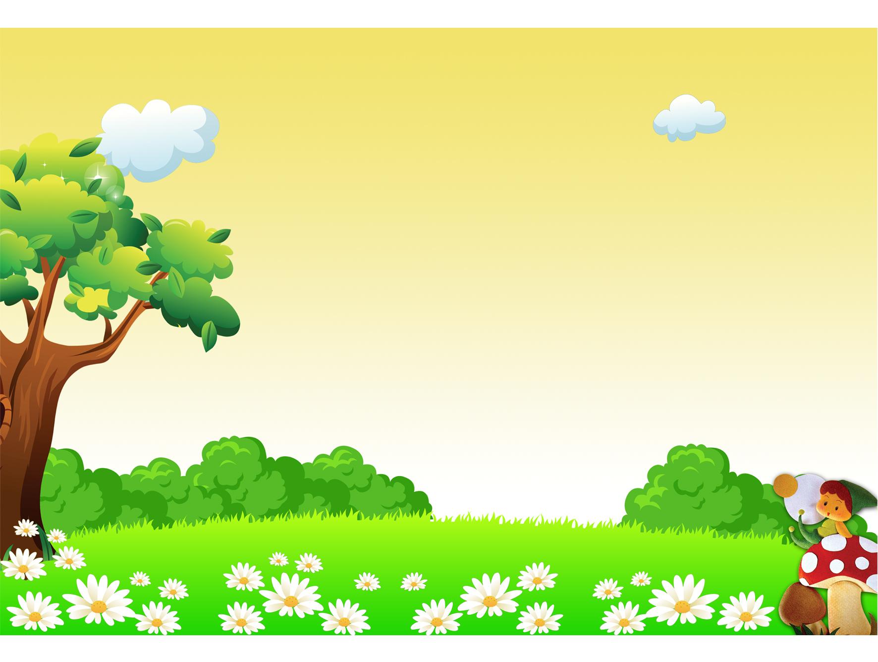 幼儿背景 卡通背景  卡通大树