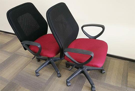 时尚红色网状座椅、办公椅