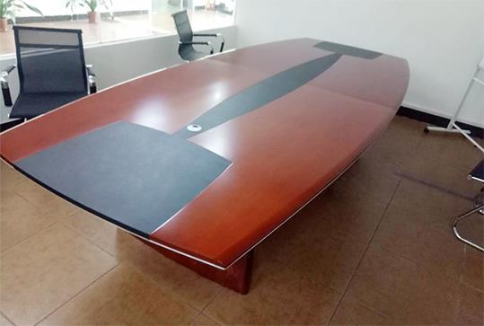 双色板式拼接办公会议桌