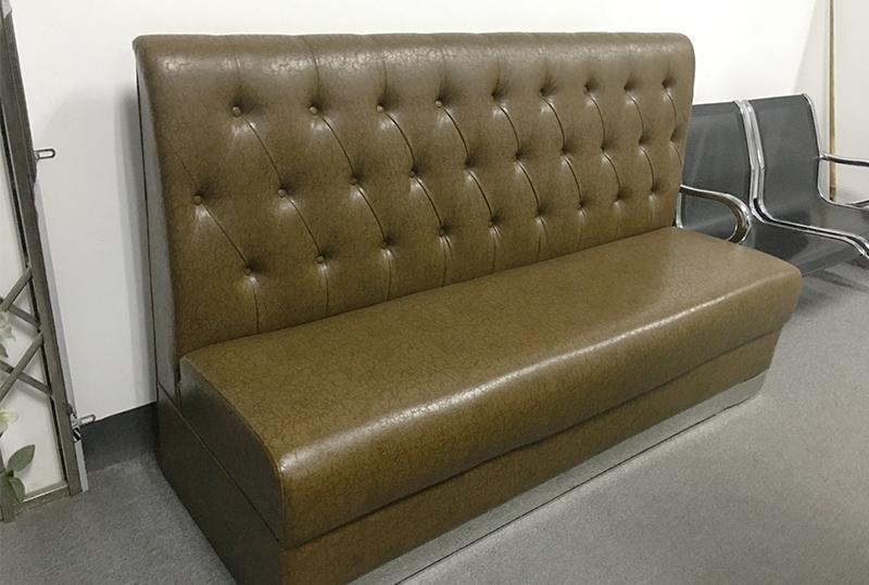 棕色皮艺纹理办公沙发、休闲沙发