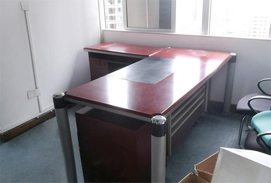 时尚红棕色简约大班台、老板桌