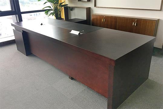 红棕色大气版面大班台、老板桌