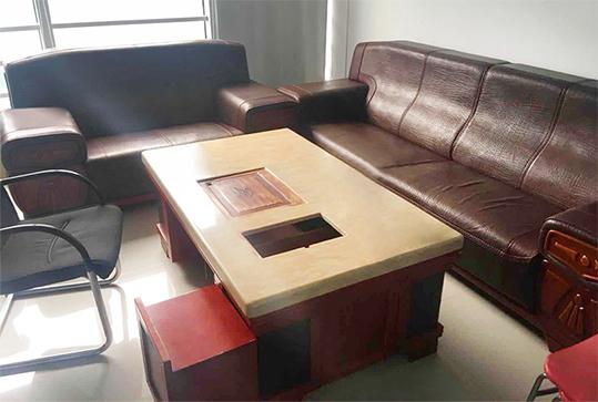 4+2大气棕色休闲沙发、办公沙发