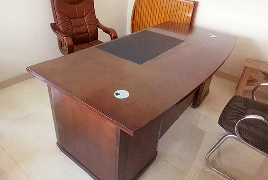 简约红棕色经理桌、大班台