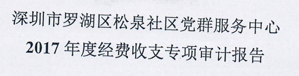 2017年审计报告(松泉)