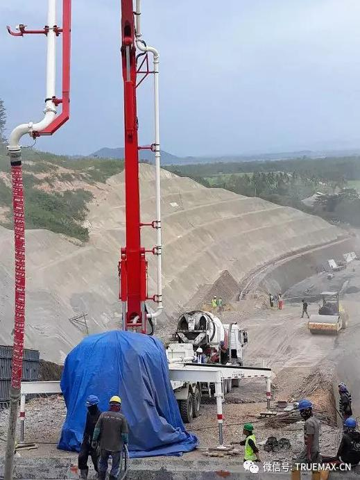 TRUEMAX泵车参与印度尼西亚大坝工程