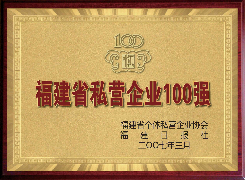 福建省私营企业100强