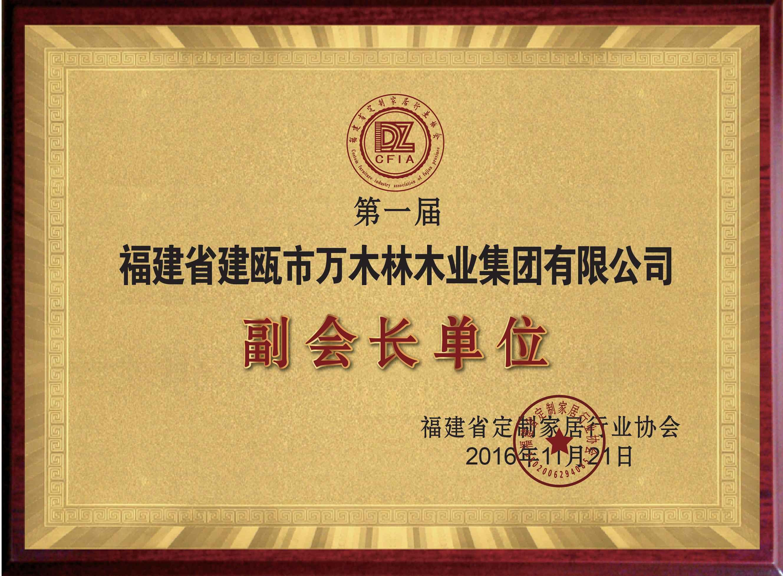 福建省定制家居行业协会副会长单位