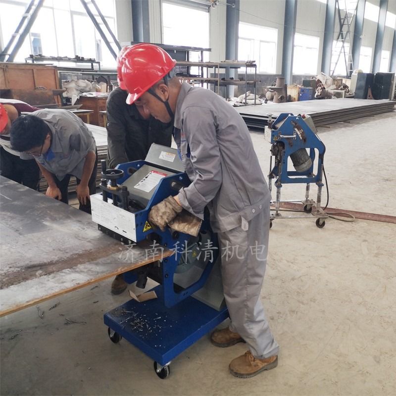金秋报喜,三台坡口机在济南黄台煤气炉旗下子公司成功验收