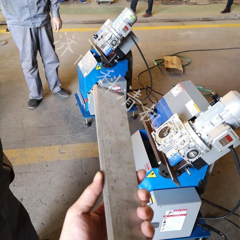 三台坡口机同时安装调试并投入使用