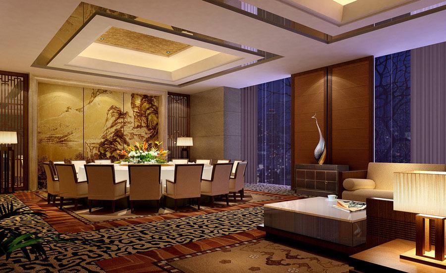 郑州酒店餐厅设计说明 餐厅包间如何设计能达到温馨,浪漫与舒适境界