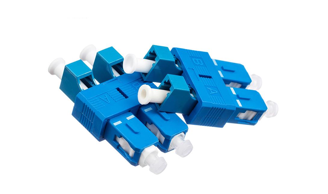 Duplex LC Female to SC male conversion adapter